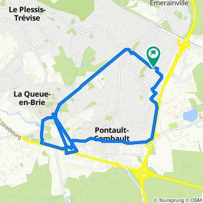 De Rue du Maréchal Lannes 17, Pontault-Combault à Rue du Maréchal Lannes 19, Pontault-Combault