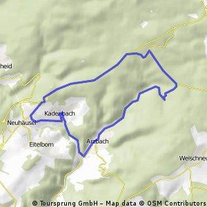 Neuhäusel - Arzbach über B49 zurück