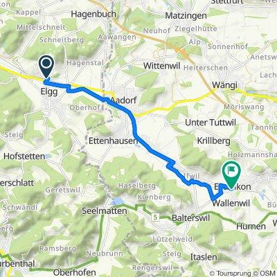Stutzstrasse 2, Elgg nach Winterthurerstrasse 1, Eschlikon