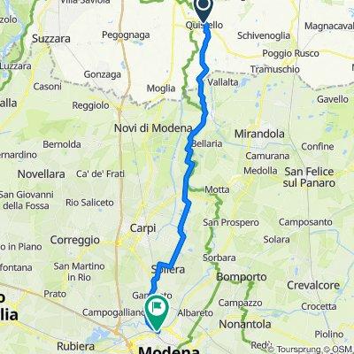 Via Cesare Battisti 23, Quistello nach Tangenziale Nord di Modena e diramazione per Sassuolo