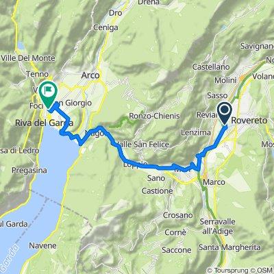 Via alla Moia 10, Rovereto nach Viale dei Tigli 42, Riva del Garda