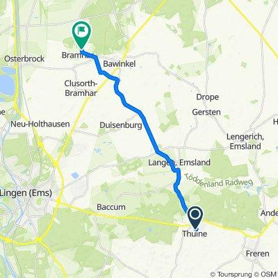Dresmannskamp 2, Thuine nach Zum Wald 12, Geeste
