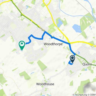 26 The Pingle, Loughborough to 33–41 Grasmere Road, Loughborough