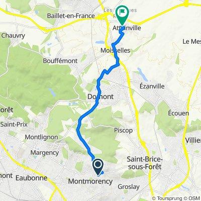 De 7 Rue Renaud, Montmorency à 6 Allée des Tourterelles, Attainville
