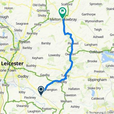35–37 Church Road, Leicester to Melton Mowbray Library, Wilton Road, Melton Mowbray