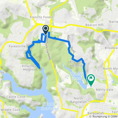 Bantry Bay Road 94, Frenchs Forest to King Street 110B, Manly Vale