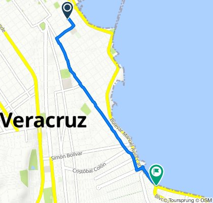 De Avenida 16 de Septiembre 719, Veracruz a Boulevard Manuel Ávila Camacho, Boca del Río