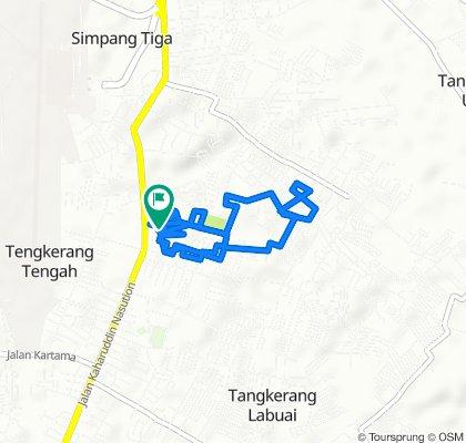 Simpang Tiga, Kecamatan Bukit Raya to Jalan Kelapa Sawit 20, Kecamatan Bukit Raya