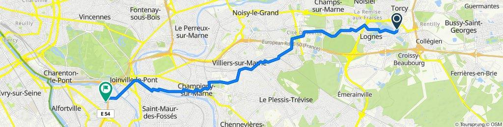 De 2 Avenue Salvador Allende, Torcy à 106 Rue Raspail, Maisons-Alfort