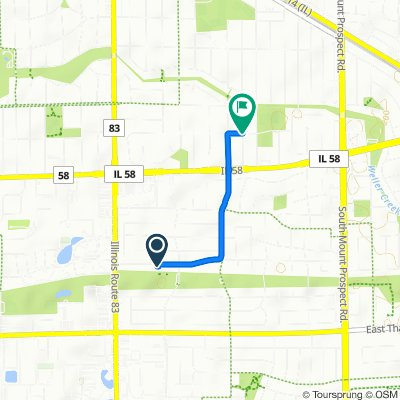 659 W Millers Rd, Des Plaines to 501–599 E Sunset Rd, Mount Prospect
