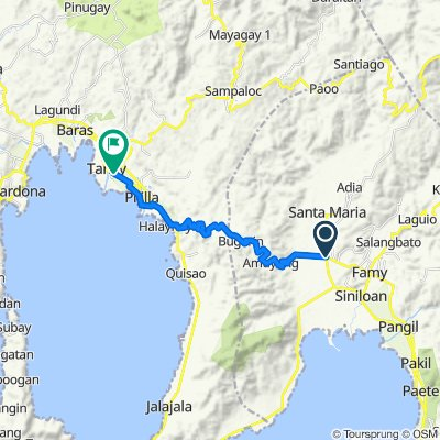 J Rizal Street 48, Mabitac to F.T. Catapusan Road 41, Tanay