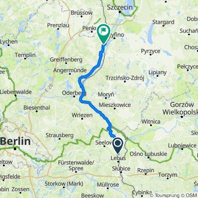 B112 41, Podelzig nach B2 38, Gartz (Oder)