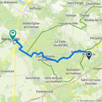 Itinéraire à partir de Chemin des Clos, Bonnelles