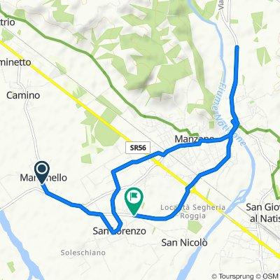 Da Via Principale 11, Manzinello a Via delle Acacie 10, Manzano