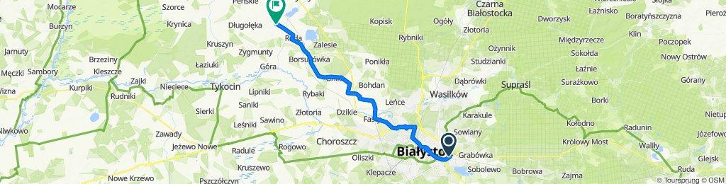 Zaułek Podlaski 37, Białystok do Krypno Kościelne 27, Krypno