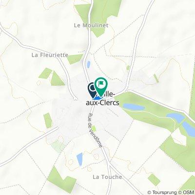 De Rue du Perche, La Ville-aux-Clercs à 2 Rue de l'Abreuvoir, La Ville-aux-Clercs