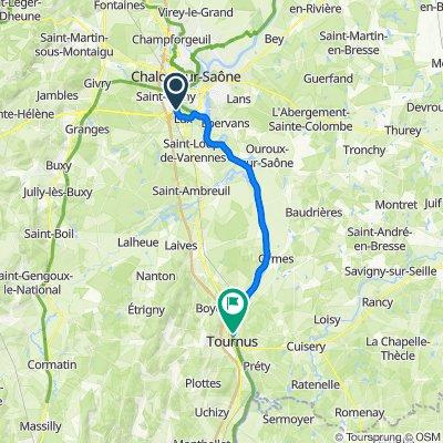 28 Rue Charles Dodille, Saint-Rémy to Quai de la Marine, Tournus