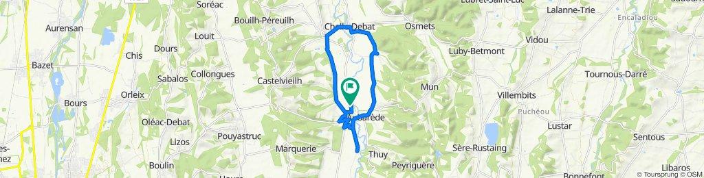 De 53 Route du Val d'Arros, Cabanac à 53 Route du Val d'Arros, Cabanac