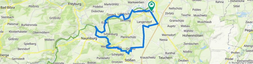Walter-Schade-Straße 14, Weißenfels nach Zeitzer Straße 45, Weißenfels