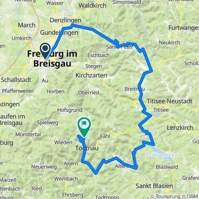 Freiburg - Hinterzarten - Schluchsee - Todtnauberg