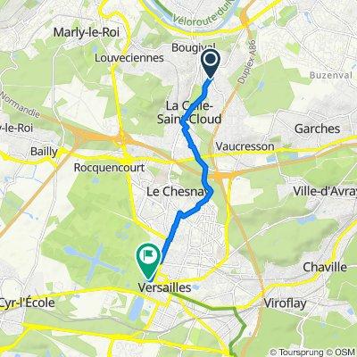 Itinéraire à partir de Avenue de la Jonchère, La Celle-Saint-Cloud