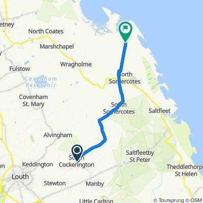 Marjandi, South View Lane, Louth to Stonebridge Cottages, Marsh Lane, Louth