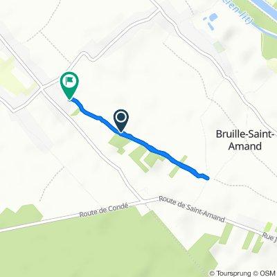 De Rue d'Hauterive, Bruille-Saint-Amand à 1–233 Chemin des Bruyères, Bruille-Saint-Amand