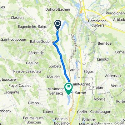 96 Chem de Beaulac, Duhort-Bachen to 2074–3060 Route des Lacs, Miramont-Sensacq