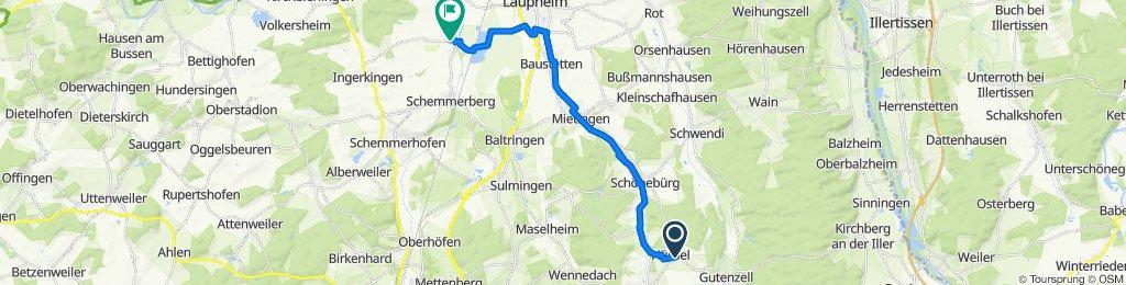 Gutenzeller Straße 23, Gutenzell-Hürbel nach K7525 21, Laupheim