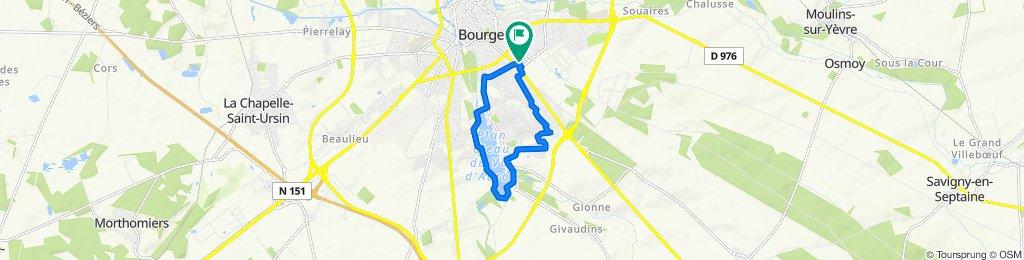 De 7–19 Rue du Cardinal Dupont, Bourges à 13 Impasse du Cardinal Célestin Dupont, Bourges