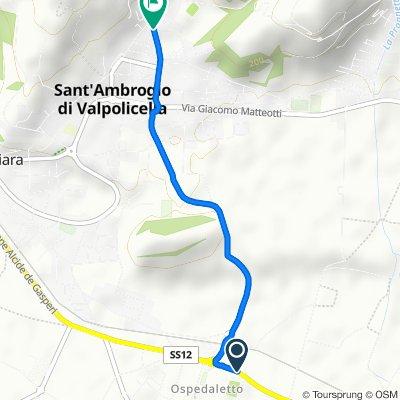 Da Via Ospedaletto 54, Ospedaletto a Via Guglielmo Marconi 28, Sant'Ambrogio di Valpolicella