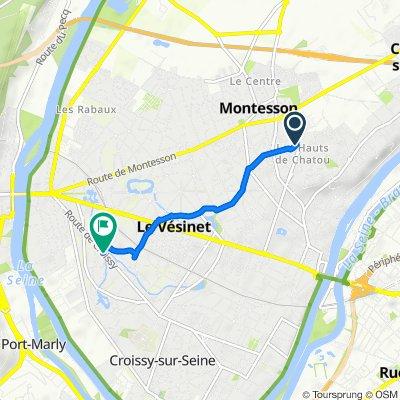 De 42B Chemin des Vignobles, Chatou à 58 Route de Croissy, Le Vésinet
