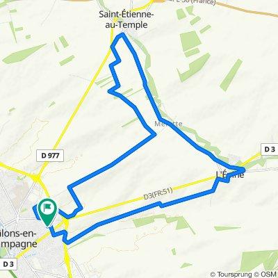 De 43 Rue du Groupe Tritant, Châlons-en-Champagne à 2–46 Impasse du Groupe Tritant, Châlons-en-Champagne