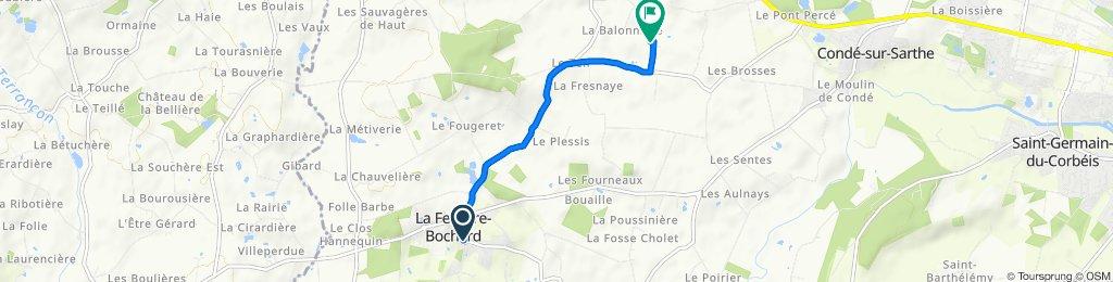 De Rue des Alpes Mancelles 12, La Ferrière-Bochard à Le Rocheret 138, Pacé