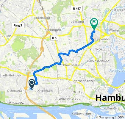 Behringstraße 150, Hamburg nach Christoph-Probst-Weg 4, Hamburg