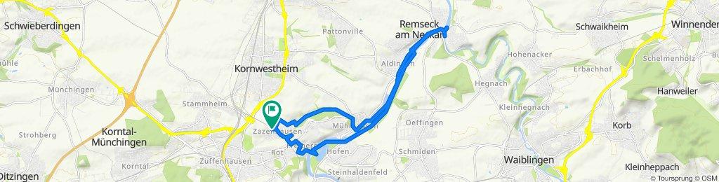 Langsame Fahrt in Remseck am Neckar