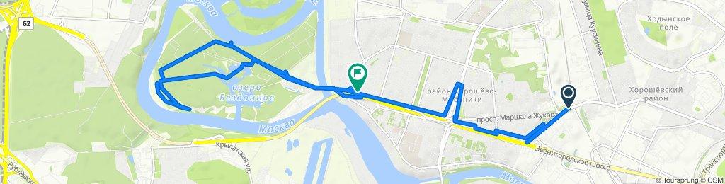 От проспект Маршала Жукова, 2к2, Москва до проспект Маршала Жукова, 70к1, Москва