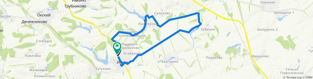 От улица Комсомольская, 4А, Искровское до улица Комсомольская, 5А, Искровское