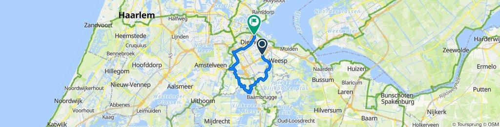 Provincialeweg 44A–45, Amsterdam naar Pampuszigt 5, Diemen
