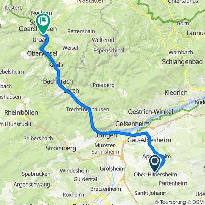 Nieder-Hilbersheimer-Straße, Ober-Hilbersheim nach Loreley 9, Bornich