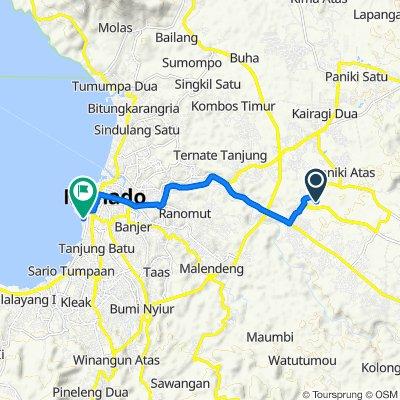 Unnamed Road, Talawaan to Jalan A.J. Sondakh 42