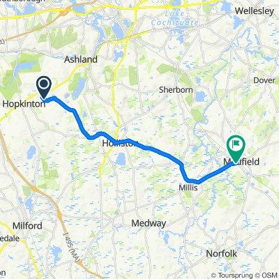39 Frostpane Ln, Hopkinton to 563 Main St, Medfield