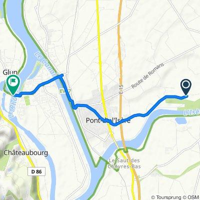 De 33 Chemin des Gours, Pont-de-l'Isère à D220a, La Roche-de-Glun
