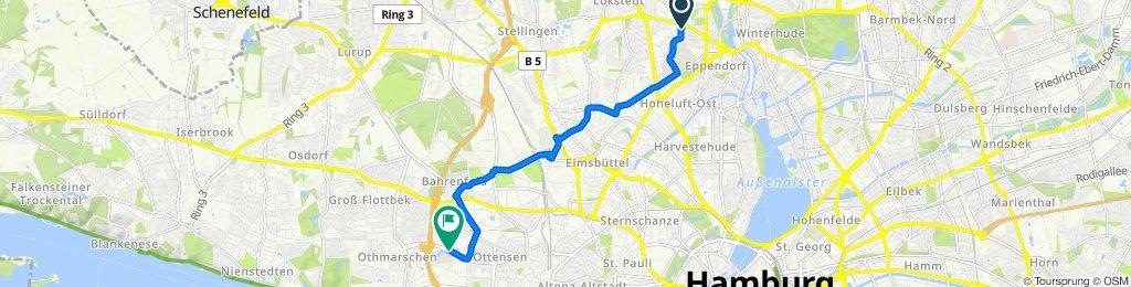 Christoph-Probst-Weg 2, Hamburg nach Behringstraße 150, Hamburg