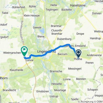 Eichenstraße 14, Thuine nach Zum Freizeitsee 1, Wietmarschen