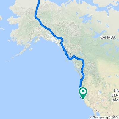 The world on a bike (Prudhoe Bay- San Francisco)