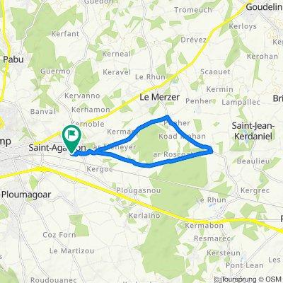 De Rue de Toullan 13, Saint-Agathon à Rue de Toullan 13, Saint-Agathon