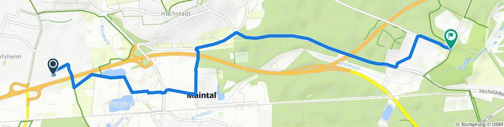 Goethestraße 125N, Maintal nach Parkpromenade 10, Hanau