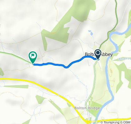 Route from B6160, Skipton