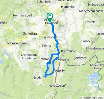 Scherbank 11, Annaberg-Buchholz nach Am Hohen Weg 3, Annaberg-Buchholz
